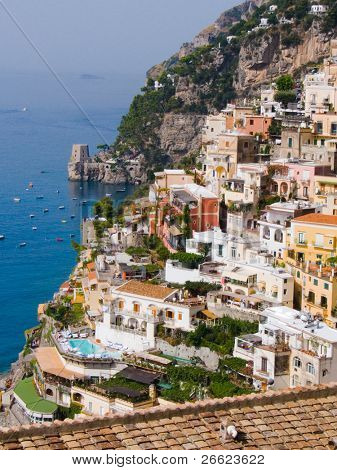 the village and the coast of Positano