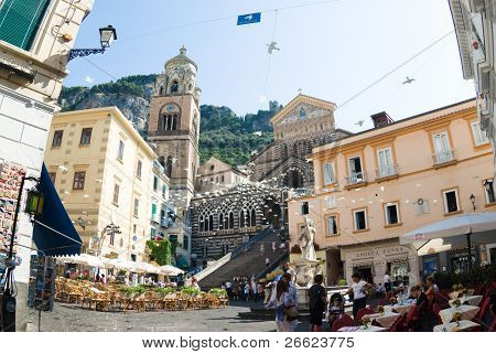 Amalfi the square of the Cathedral of Santo Andrea