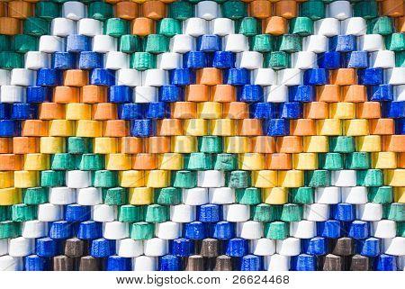 artistic decoration of coated ceramic glazed polychrome