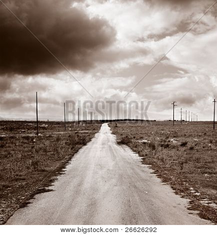 endless, long and straight road