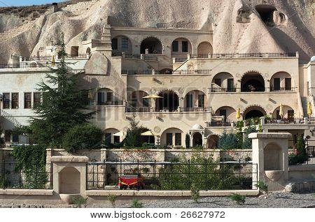 luxury caves dwellings in Urgup, Cappadocia, Turkey