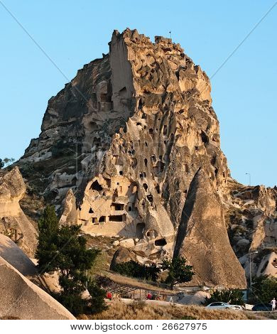 the cave house of Uchisar castle, Cappadocia, Turkey