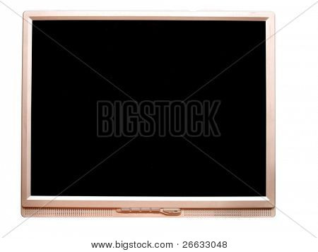 Widescreen computer monitor isolated on white background