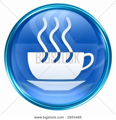 Coffee Cup Icon Blue