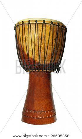 African djembe isolated on white background