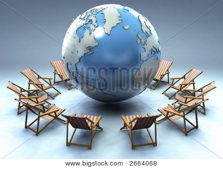 Beach Chairs Around The Globe