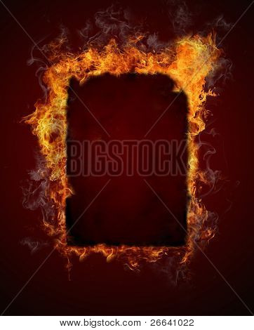 Burning fire frame
