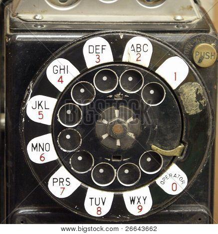 Vintage payphone detail