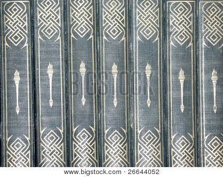 Antique books background