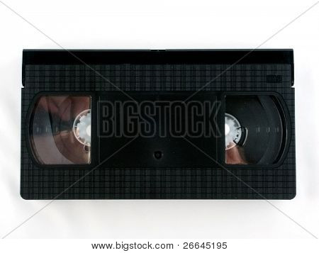 Old VCR tape, isolated on white