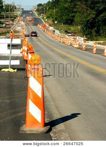 Miles of road work