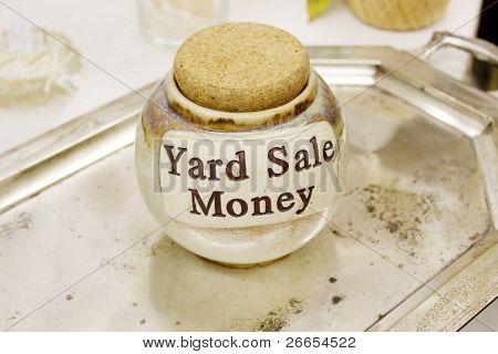 Yard Sale Money Jar