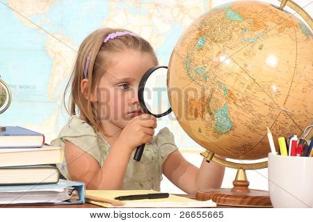 Little girl ready to learn