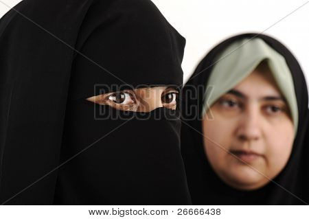 Two Arab woman muslim
