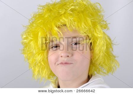Little boy with yellow hair