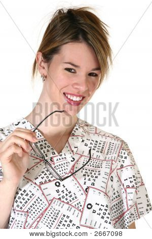 Smiling Female Eyedoctor