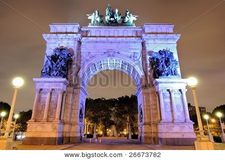 Grand Army Plaza in Brooklyn New York City commemorating the Union Victory during the Civil War.