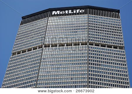 NEW YORK CITY - JULY 26: The historic MetLife Building July 26, 2010 in New York, NY. The MetLife Building was the last built before laws prevented corporate logos on building tops.