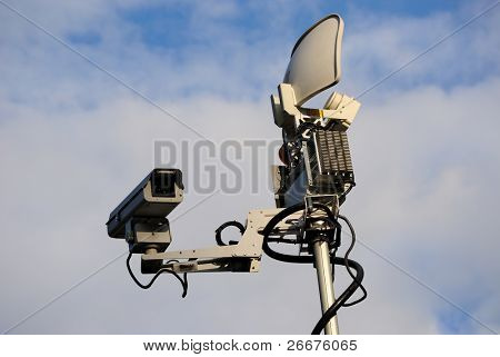 News Truck Satellite with camera device