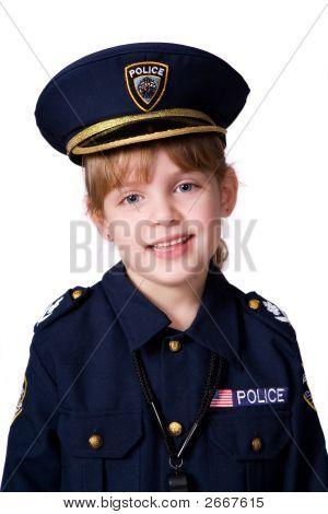 Little Policegirl Portrait