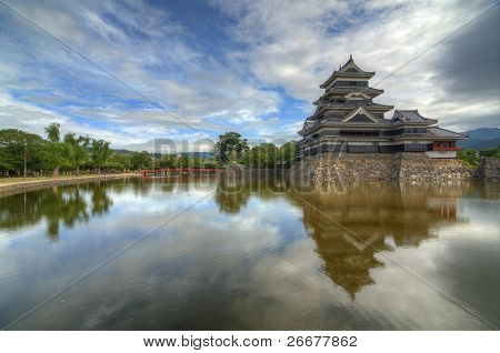 The historic Matsumoto Castle dating from the 15th Century in Matsumoto, Japan.