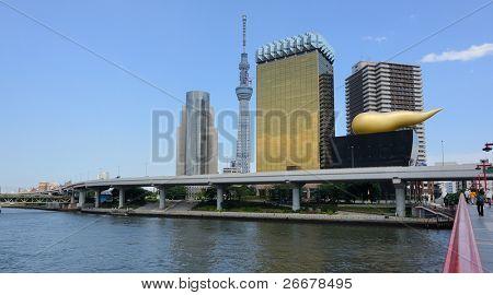 Tokyo Sky tree viewed from Azumabashi Riverside