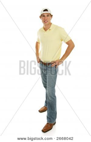 Casual Teen Male Full Body
