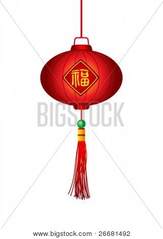 Chinese traditional lantern with Chinese character for