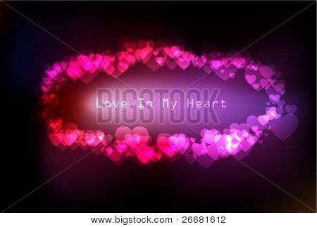 beautiful colorful light hearts  background
