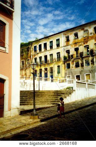 Street Of Salvator De Bahia