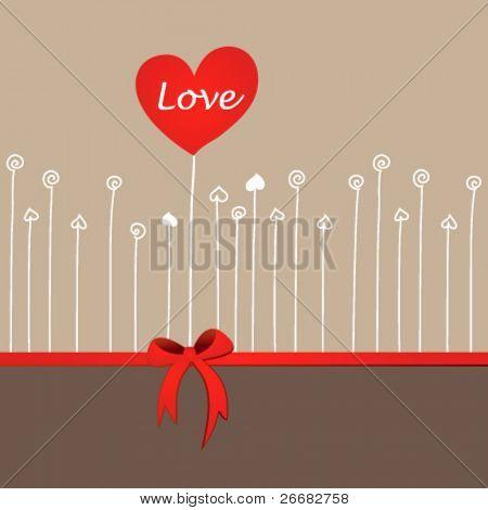 Wedding or Valentine heart design card