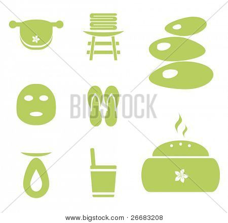 Vector spa icon set for websites, magazines and wellness brochures, etc