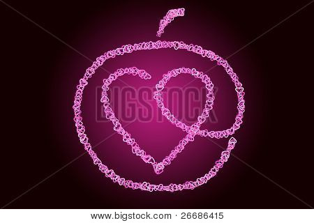 Heart Inside Of An Apple