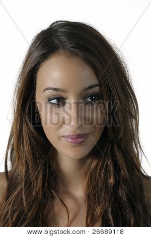Pretty Woman With Long Brown Hair