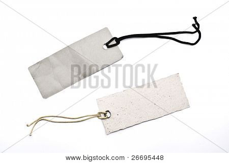 Cardboard tags with lace