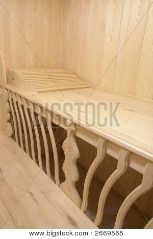 Sauna Bench In Modern Hotel