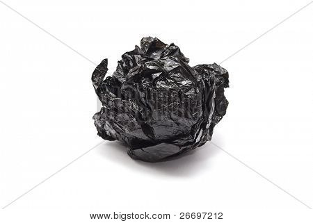 Scrunched rubbish bag
