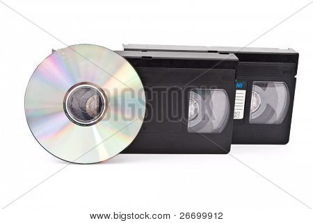 Video cassette and disc CD