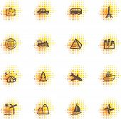 Travel Icons, Dots Series poster