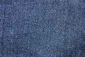 Blue Jeans Denim Pattern Background. Empty Natural Classic Jeans Texture, Denim Fabric Close Up View poster