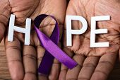 Ribbon To Support Alzheimers Disease Awareness poster