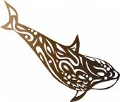 Killer Whale With A Pattern, A Dolphin Tattoo, An Ornament On The Body Of An Animal, A Koshalot Stic poster