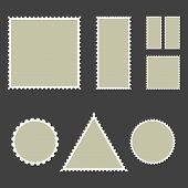Blank Post Stamps, Vector Illustration. Post Concept. poster