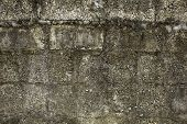 Old Concrete Brick Wall With A Rough Texture. Rough Surface. Dirty White Gray Wall poster