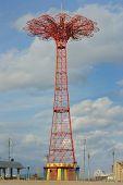The Parachute Jump, a landmark of Coney Island New York City. poster
