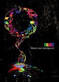 Постер, плакат: Абстрактный марочных музыки плакат