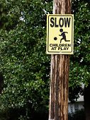 Slow Children At Play Sign poster