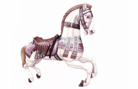 picture of carousel horse  - Merry - JPG