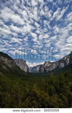 Mountain Range In Yosemite
