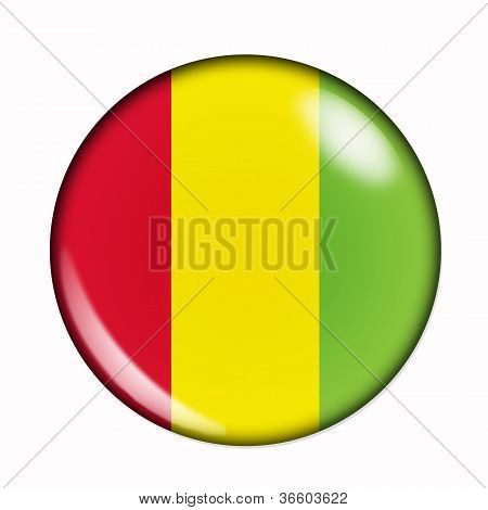 Button Flag Of Guinea